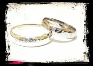 Cincin engrave Yusran+Nazira