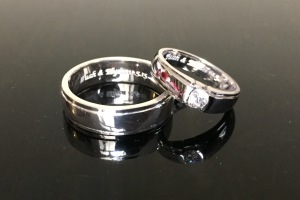 Cincin engrave Tuah+Elyza