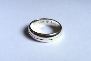 Cincin engrave Faiq+Hidayah